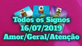 Previsões Diárias Todos os Signos 16/07/2019 horoscopo do dia conselho diário Baralho Cigano tarô