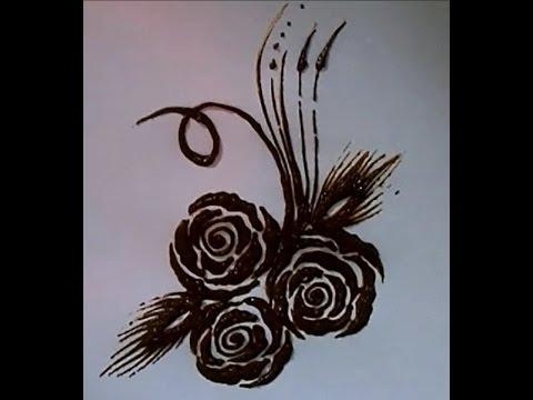 Arabic Rose Henna Designs Rose Henna Design Without
