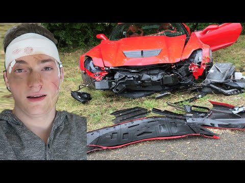 CRASHED MY DADS CORVETTE Z06 PRANK - SUPERCAR - CAR CRASH PRANK (PRANKS)