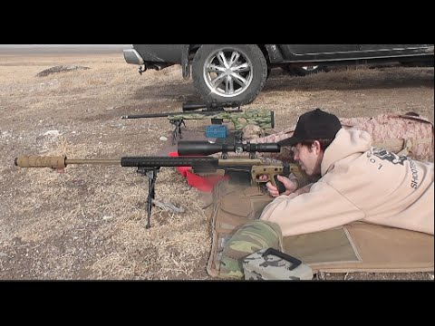 Long Range Shooting 1 Mile 1766 Yards Suppressed 7mm 300 Win Mag
