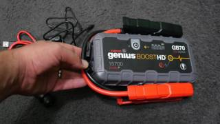 Jumpstart your car up to 40 Times - Genius BOOST HD GB70
