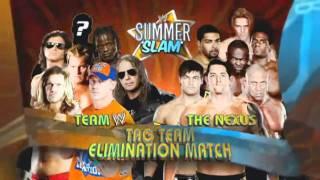 WWE SummerSlam 2010 Official Match Card(HD)