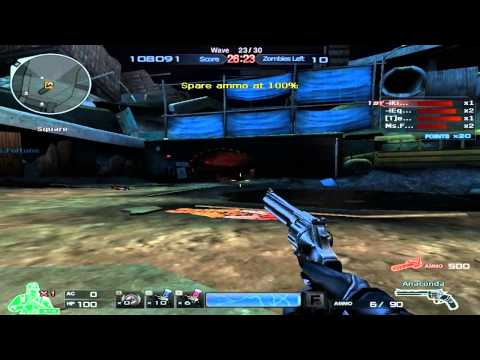 Crossfire Game Play: Zombie Mode Crater Map