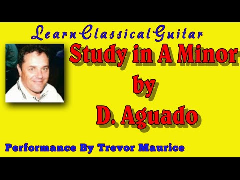 0 Study in A Minor by Aguado (www.learnclassicalguitar.com)
