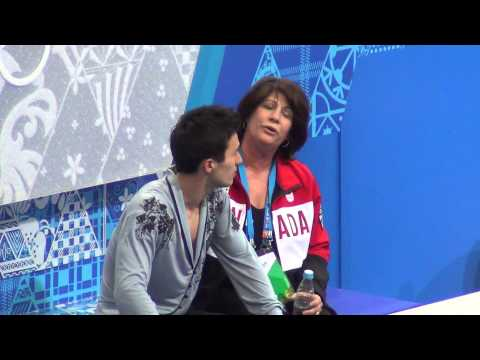Sochi 2014 Patrick Chan kiss&cry after FS 00723