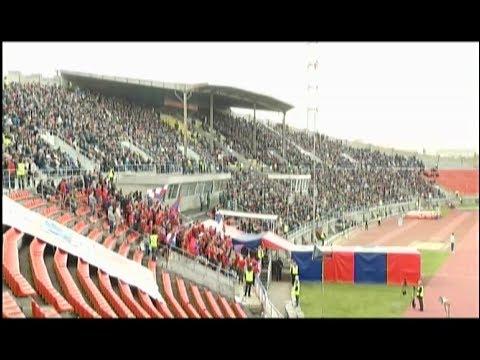 Показываем, что происходило на стадионе во время стыкового матча футбольного «Енисея»