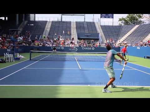 Nick Kyrgios Practice US Open 2014