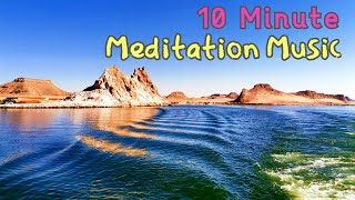 10 Minute Meditation Music   Calming Waves, Relaxing Music, Positive Energy, Inner Peace, Quiet Mind