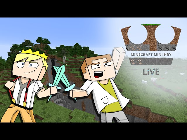 Jirka a GEJMR Hraje - Minecraft Mini hry - Surival games - LIVE