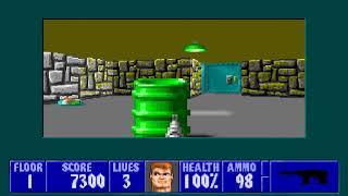 [MS-DOS] Wolfenstein 3D - Floor 1 (Episode II)