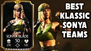 Best Klassic Sonya Blade Teams in MKX Mobile. AMAZING LIVE Stream + Free Souls Giveaway.