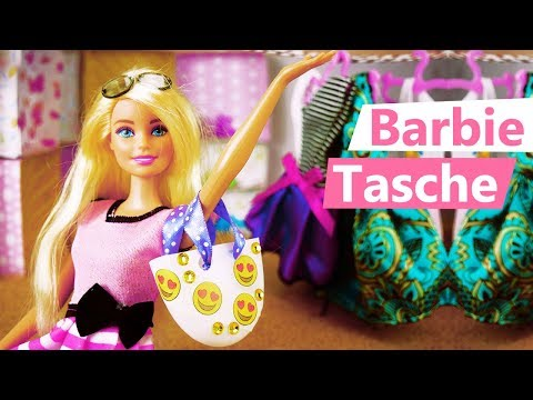 barbie tasche selber machen s e emoji handtasche f r puppen basteln zubeh r barbie monster high. Black Bedroom Furniture Sets. Home Design Ideas