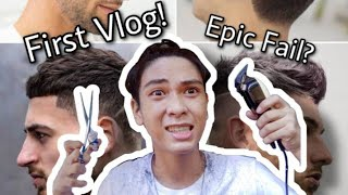Giving myself a Haircut with my Ate (FIRST VLOG) EPIC FAIL?