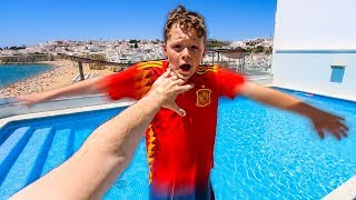 i pushed my Little Brother into the pool...(backfired)