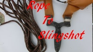 How To Make A Slingshot From Rope