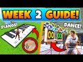 Fortnite WEEK 2 CHALLENGES GUIDE DANCE OFF Sheet Music Piano Banner Battle Royale Season 7 mp3