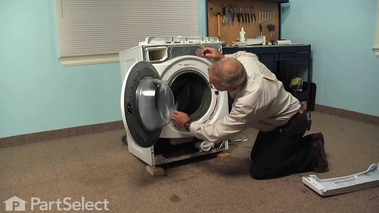 Washing Machine Repair Replacing The Door Bellow