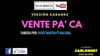 Download Lagu Vente Pa' ca - Ricky Martin feat Maluma (Karaoke) Gratis STAFABAND