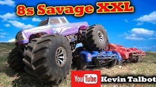 HPI Savage XXL Bigger than the MAX vs Traxxas E-Revo 2.0