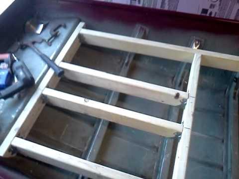 Jon boat casting deck frame