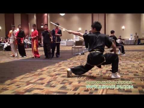 IL SHAOLIN KUNG FU 51 Shaolin Yinshou Staff,  Naperville, Chicago, DuPage, Wushu, Master Yang Chen
