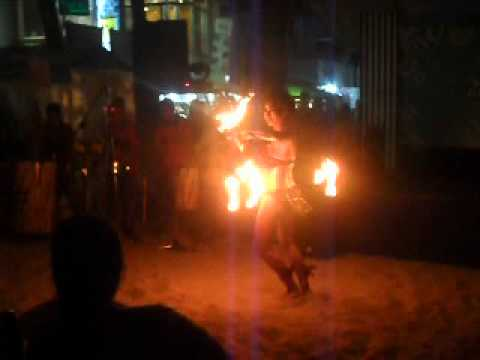 FIREQUEEN RACHEL LOBANGCO at 2ND AVENUE BORACAY EVENT 2012 with the FIRE BELLY BELT and TORCH