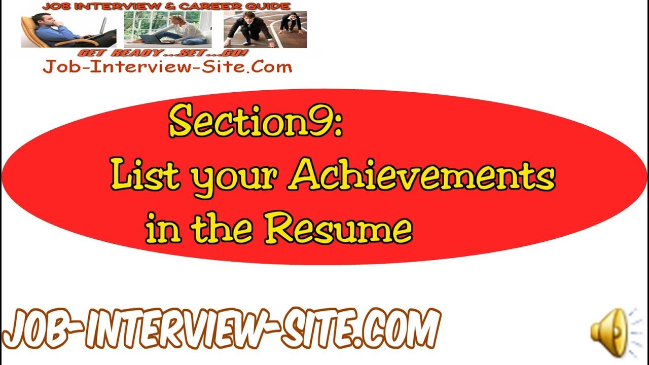 resume achievement statements  listing your