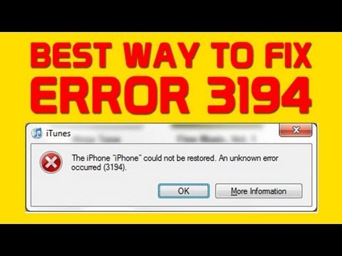 Fix Error 3194 While Restoring and Updating iPhone or iPad