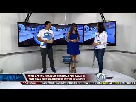 Techo Honduras promociona la #ColectaTECHO2014 en Once Noticias Meridiano de Canal 11.