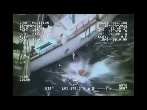 Coast Guard rescues three from storm-tossed sailboat