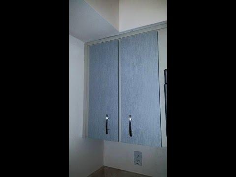 Wallpapered Cabinet Door Remodel