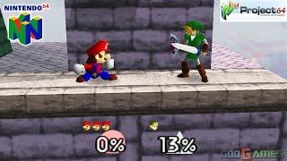 Super Smash Bros. - Gameplay Nintendo 64 1080p (Project 64)