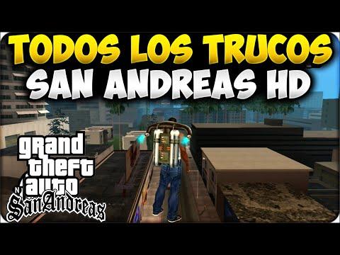 TRUCOS GTA SAN ANDREAS HD - TRUCOS CONSEGUIR JETPACK. TODAS LAS ARMAS. VIDA INFINITA XBOX360