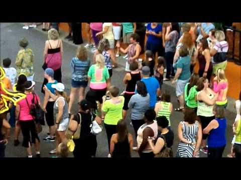 Zumba Flash Mob 2012 4th Street Live