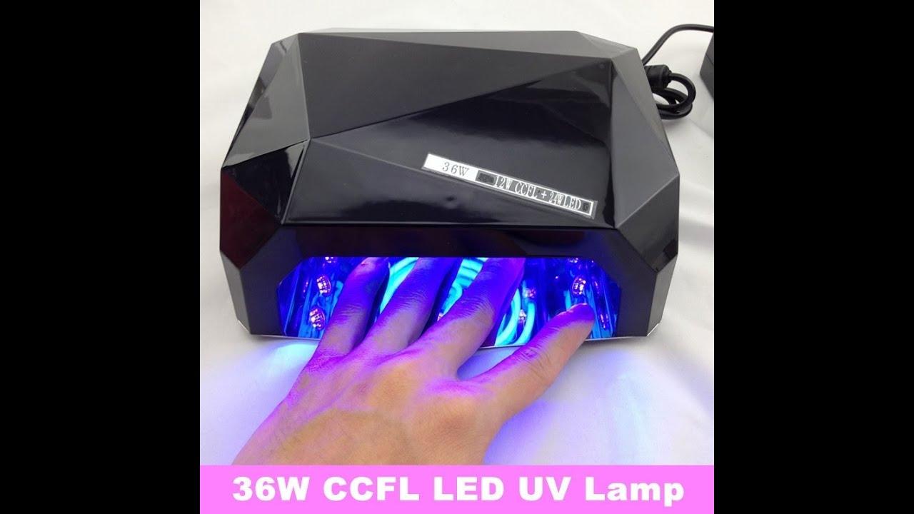 36watt CCFL LED lamp nail ebay, difference UV, 36 watt gel polish ...