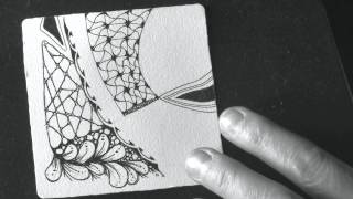 Zentangle® Ensemble: Tile 1
