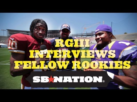 Robert Griffin III, Trent Richardson, David Wilson Interview Fellow NFL Rookies