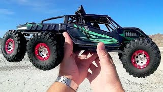 Virhuck V02 Brushless 6WD Planetary Suspension RC Car Test Drive Review