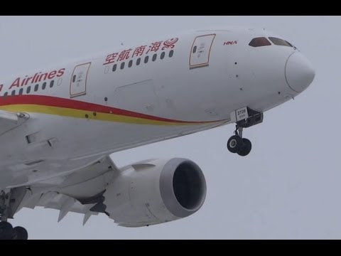 China Hainan Airlines Boeing 787-8 (B-2728) Landing 28C at Chicago O'Hare International Airport