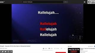 243 Hallelujah Karaoke Hd In The Style Of Alexandra Burke