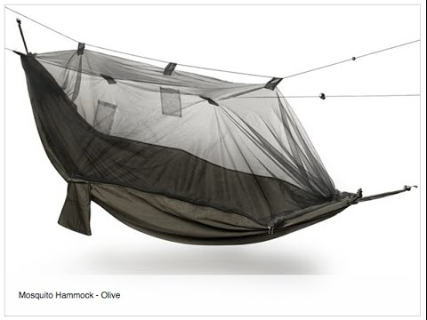 Yukon Outfitters Mosquito Hammock from Woot.com (unboxing & suspension mod)