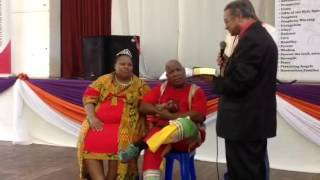 Apostle Stage and Apostle Kgomotso Stage renewing their vows in the First fruit Sunday