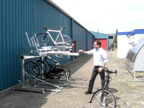 FalcoLevel Two-Tier Cycle Parking System