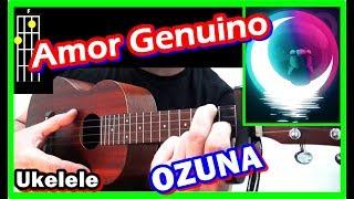 UKULELE 🐻Cómo tocar OZUNA Amor Genuino Acordes Tutorial 2019 fácil