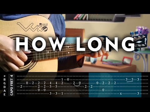 Charlie Puth - How Long - Cover (Fingerstyle Guitar Cover) With Tabs Tutorial (Lesson)