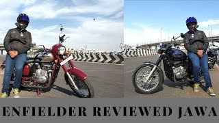 JAWA REVIEW BY ROYAL ENFIELD RIDER | FORTY TWO AND JAWA CLASSIC 300 | Test Ride Opinion Price Jaipur