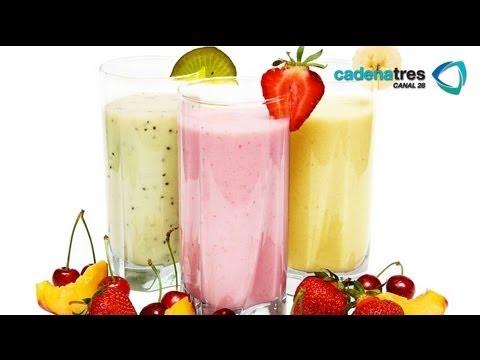 Receta de como preparar smoothie de frutas. Receta de bebidas / Receta de smoothie / Smoothie recipe