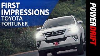 Toyota Fortuner : First Impressions : PowerDrift