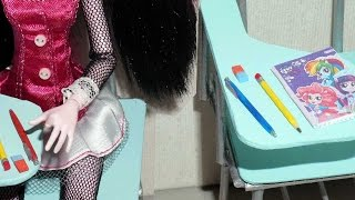How to make pencil, pen and eraser for doll (Monster High, MLP, EAH, Barbie, etc)