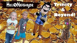 Hello Neighbor Left the Infinity Gauntlet At Trinity & Beyond's House! It Led Us To Treasure!